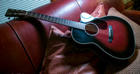 Martin Mahagony guitar with Silka Spruce top in Blood Red with Black Burst